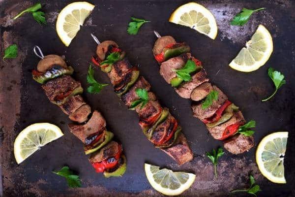 Greek Beef Kabobs - The Lemon Bowl
