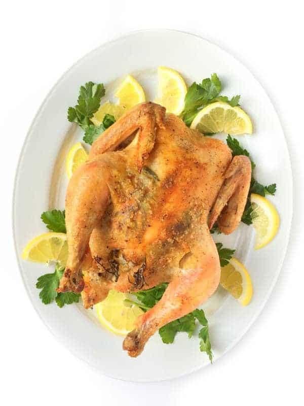 Lemon Garlic Roasted Chicken - The Lemon Bowl