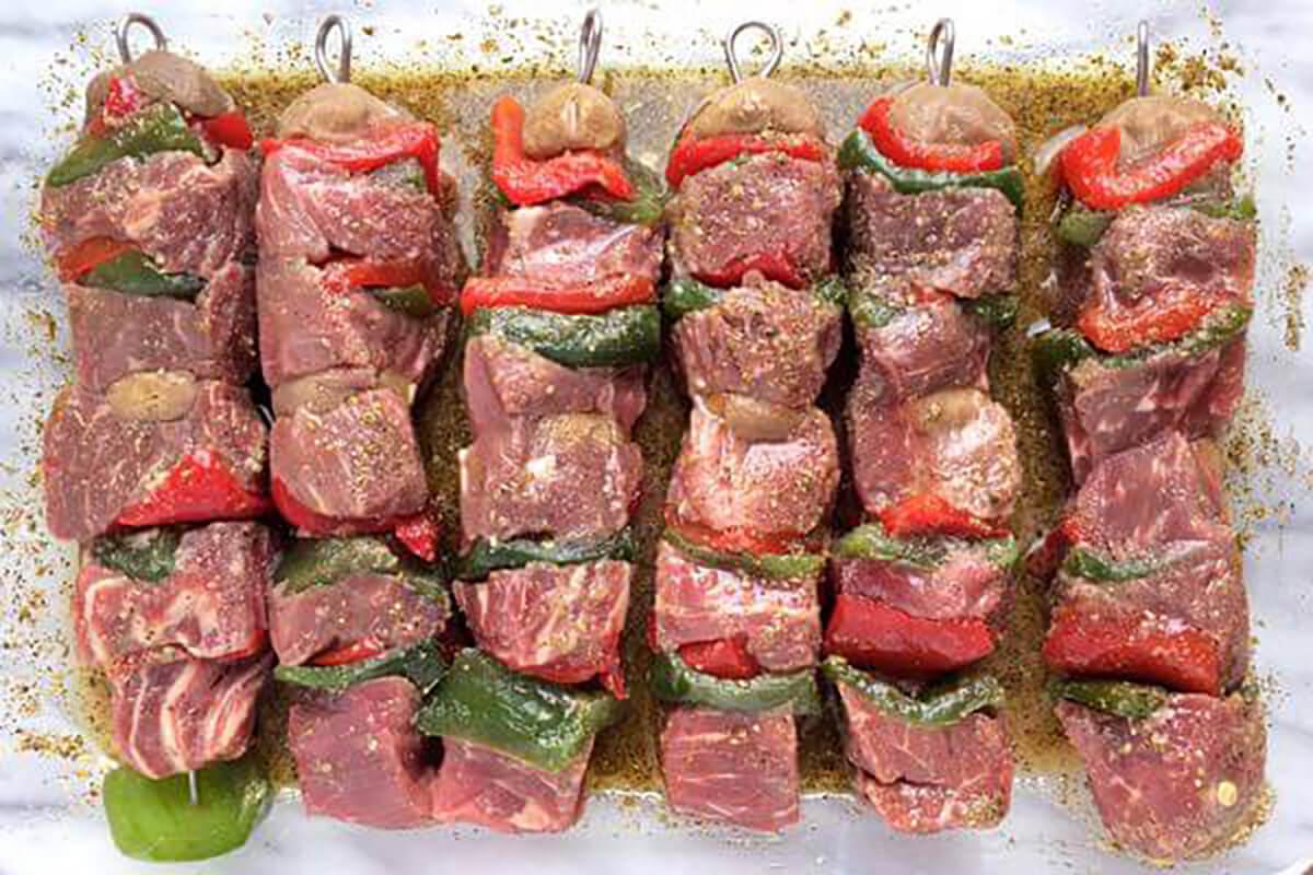 Marinating Beef Kabobs