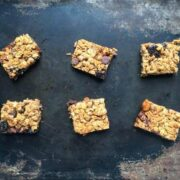 Chewy Chocolate Nut Granola Bars