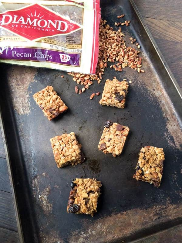 Chewy Chocolate Pecan Chip Granola Bars - The Lemon Bowl
