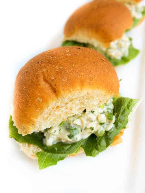 Chicken Salad Sliders - The Lemon Bowl