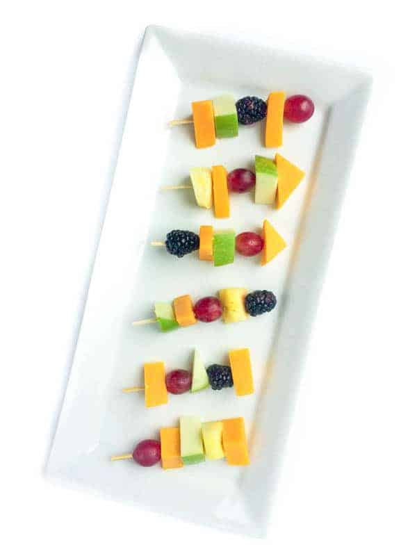 Fruit and Cheese Kabobs - The Lemon Bowl