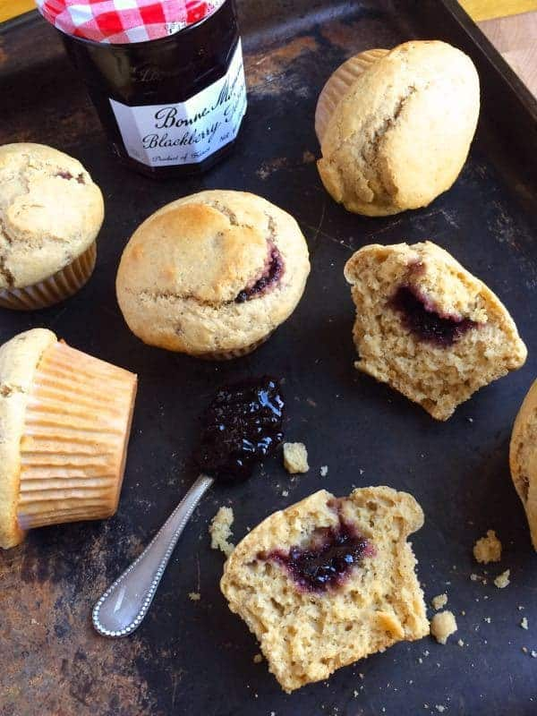 Jam Filled Blackberry Muffins - The Lemon BOwl