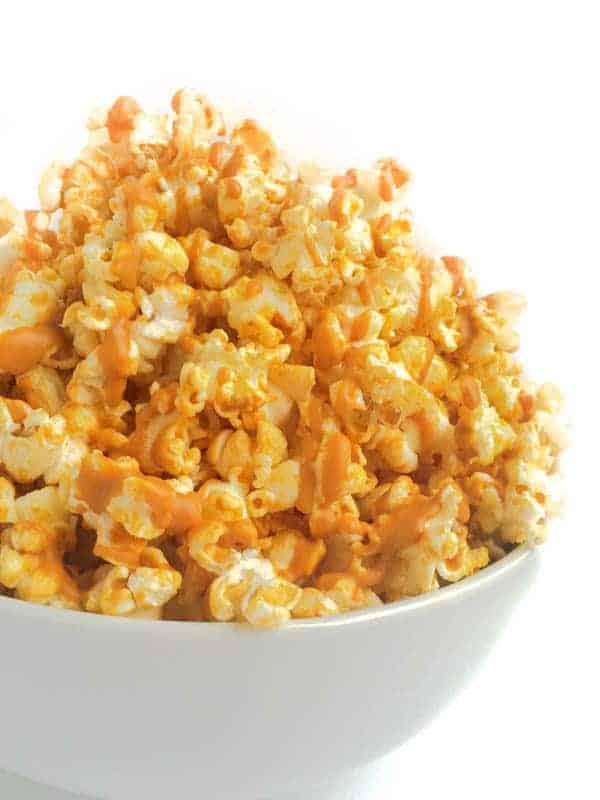 PB Drizzled Popcorn - The Lemon Bowl