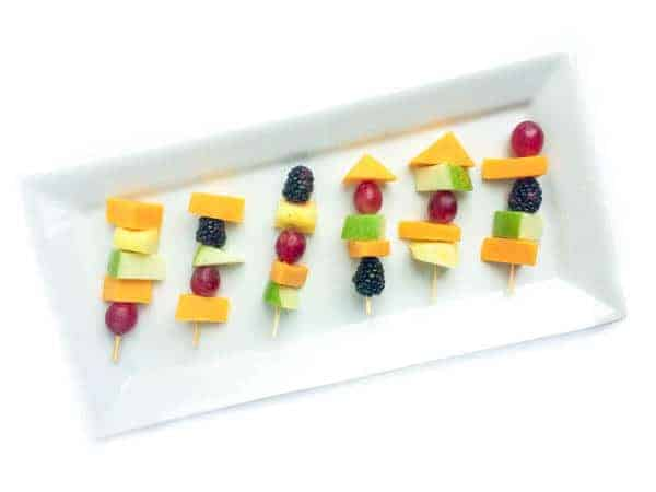Rainbow Fruit and Cheese Skewers - The Lemon Bowl