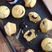 Whole Wheat Blackberry Jam Muffins - The Lemon Bowl