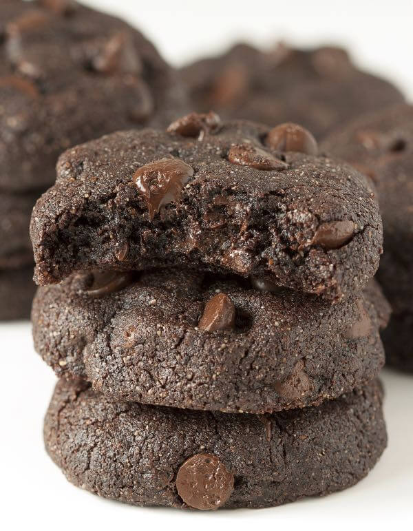 Buckwheat Double Dark Chocolate Brownie Cookies - The Lemon Bowl