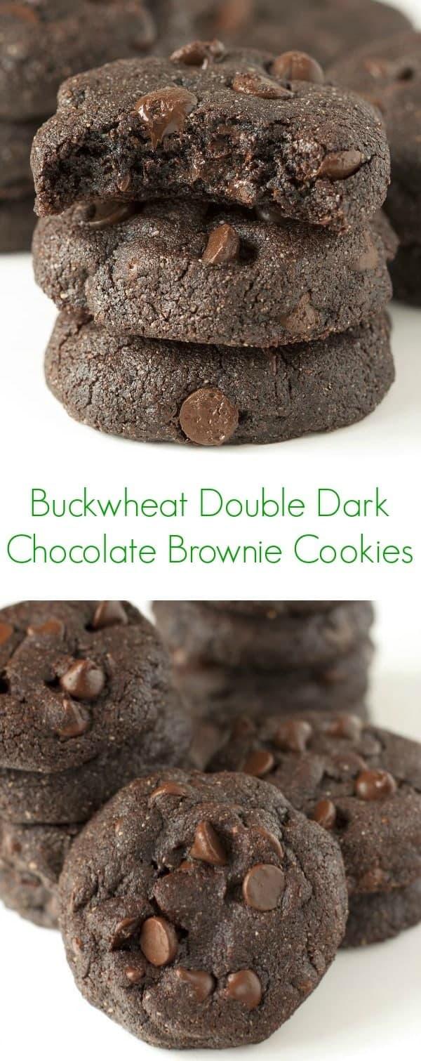 Buckwheat Double Dark Chocolate Brownies - The Lemon Bowl
