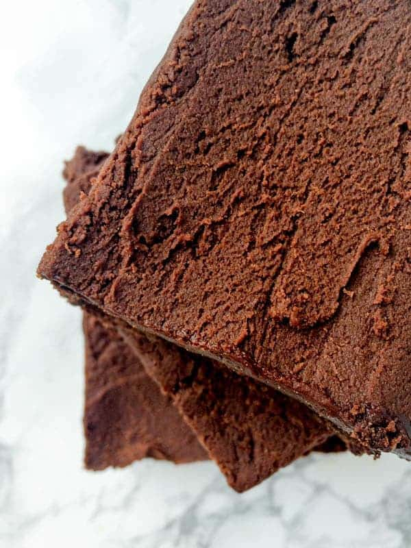 Gluten Free Brownies with Fudge Coffee Frosting - The Lemon Bowl
