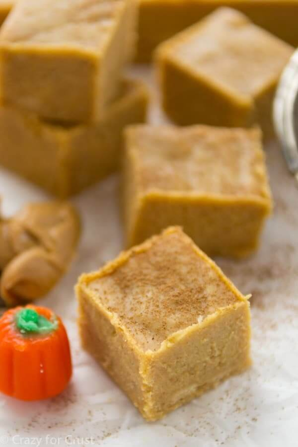 Peanut-Butter-Pumpkin-Fudge CRAZY FOR CRUST