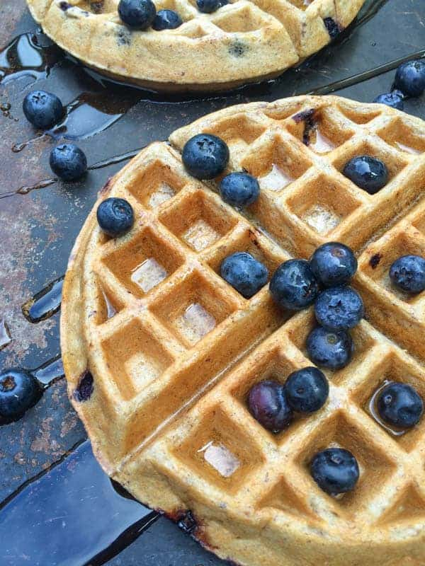 Blueberry Greek Yogurt Waffles - The Lemon Bowl