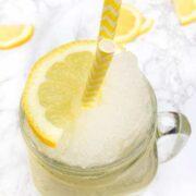 Frozen Lemonade with Rose Water - The Lemon Bowl