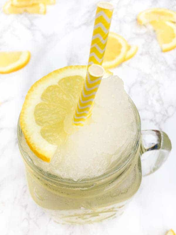 Frozen Lemonade with Rose Water - The Lemon Bowl