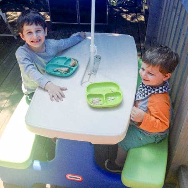Kiddie Picnic Table Lunch - The Lemon Bowl