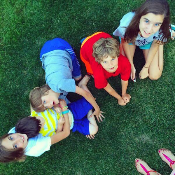 Kids in Lawn