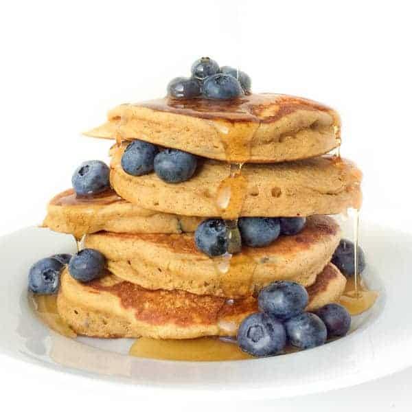 Almond Butter Blueberry Pancakes - The Lemon Bowl