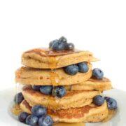 Blueberry Almond Butter Pancakes - The Lemon Bowl