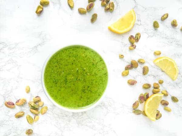 Lemony Pistachio Basil Pesto - The Lemon Bowl