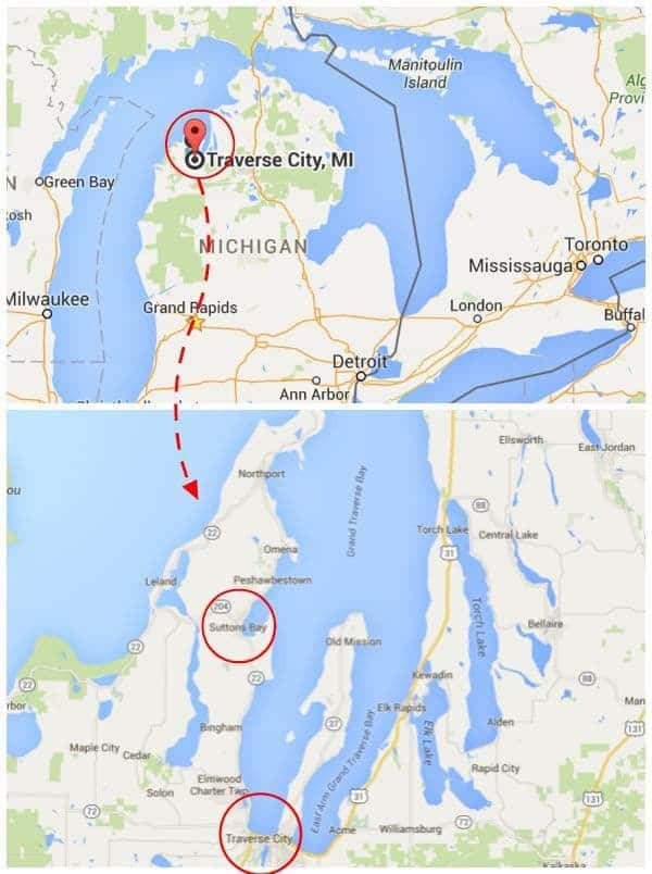 Map of Northern Michigan - The Lemon Bowl