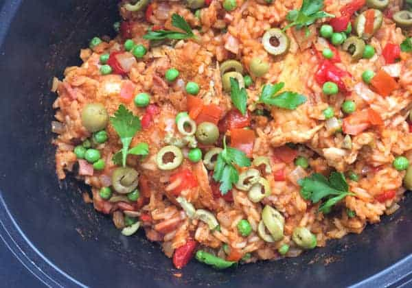 Slow Cooker Arroz Pollo - The Lemon Bowl