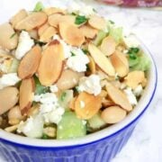 Wheat Berry Salad with Feta, Beans, Fennel and Toasted Almonds - The Lemon Bowl