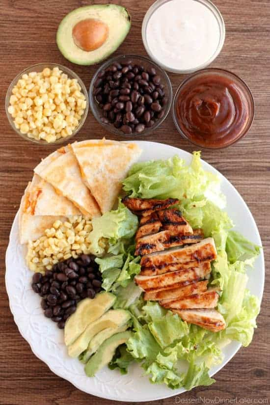 BBQ Ranch Chicken Salad - Dessert Now Dinner Later