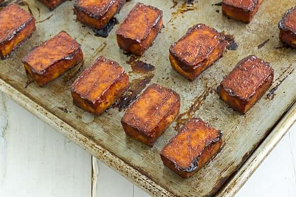 Baked Barbecue Tofu - Oh My Veggies