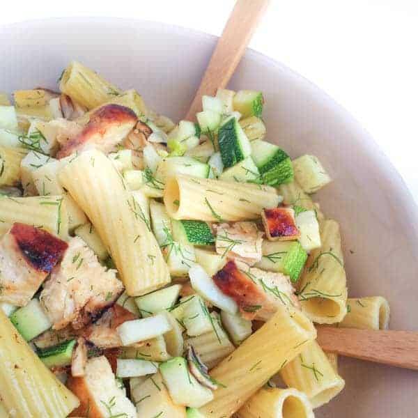 Chicken Pasta Salad with Smoked Mozzarella - The Lemon Bowl