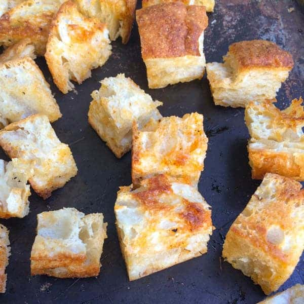 Chipotle Chiabatta Croutons - The Lemon Bowl