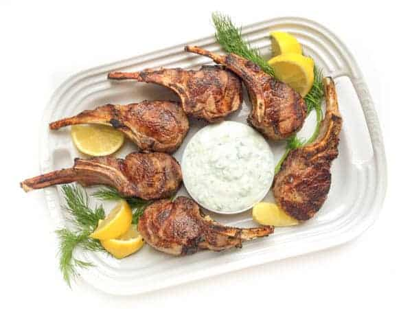 Grilled Lamb Chops with Tzatziki - The Lemon Bowl