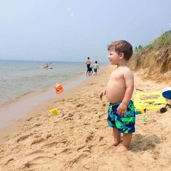 Jacob on Lake Michigan - The Lemon Bowl