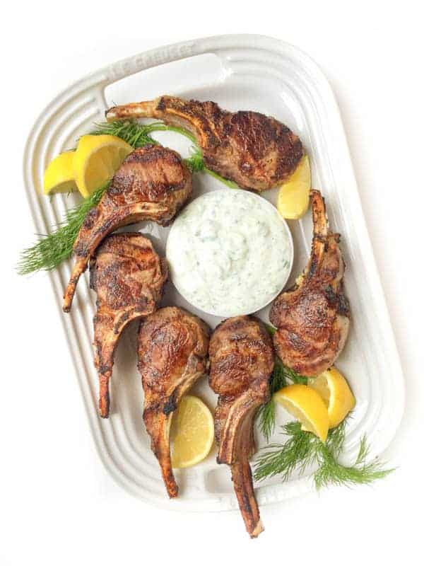 Platter of Grilled Lamb Chops - The Lemon Bowl