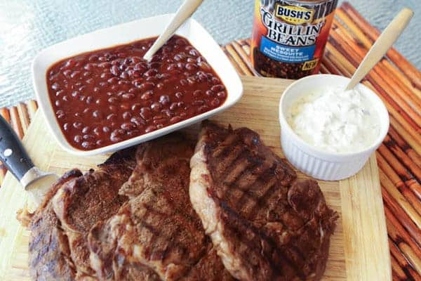 Spice Rubbed Grilled Ribeyes with Creamy Cilantro Lime Sauce - A Southern Fairytale