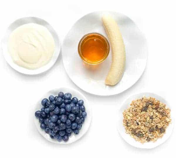 Banana Yogurt Muesli Parfait Ingredients - The Lemon Bowl