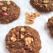 Chewy Apple Oatmeal Breakfast Cookies - The Lemon Bowl