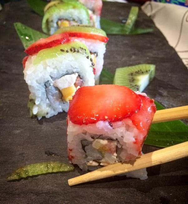 Fruit Sushi at Cancun Marriott - The Lemon Bowl