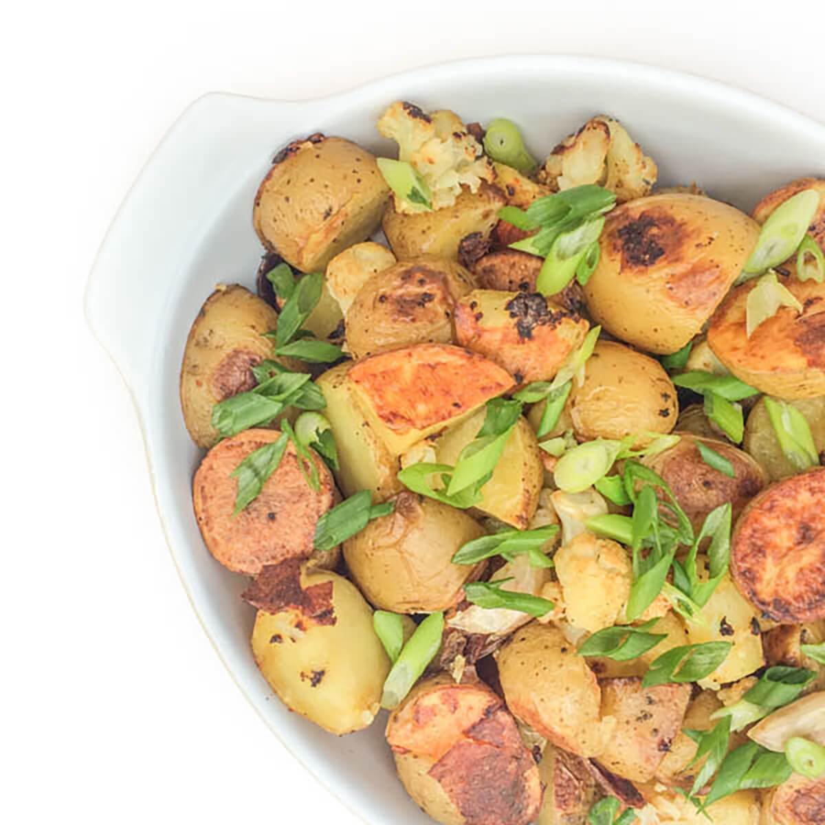 Roasted Potatoes and Cauliflower