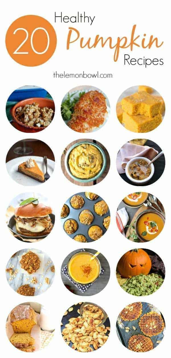 20 Healthy Pumpkin Recipes - The Lemon Bowl