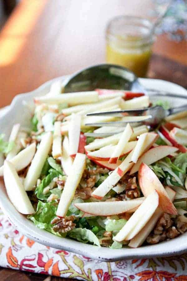 Apple Celery Walnut Salad- Aggie's Kitchen