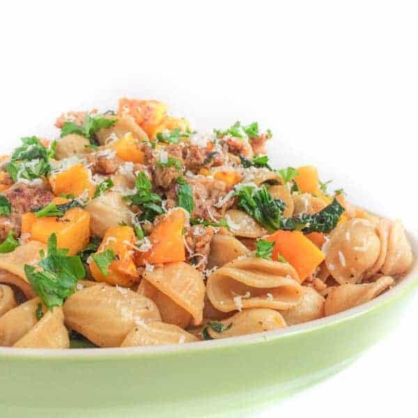 Butternut Squash, Sausage and Kale Pasta - The Lemon Bowl
