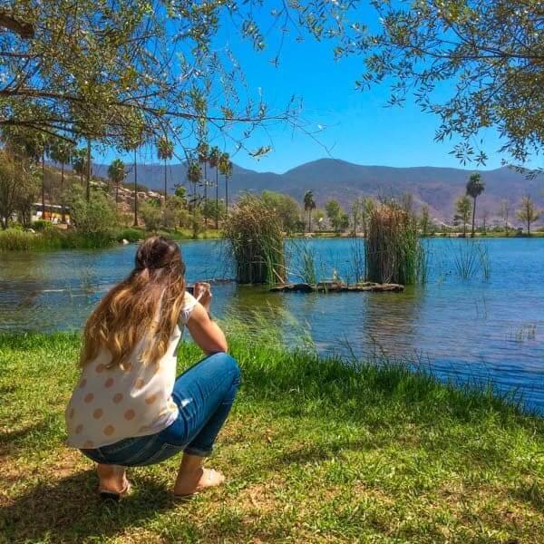 Deb Photographing Lake