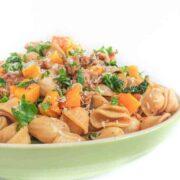 Roasted Butternut Squash, Italian Sausage and Kale Pasta - The Lemon Bowl