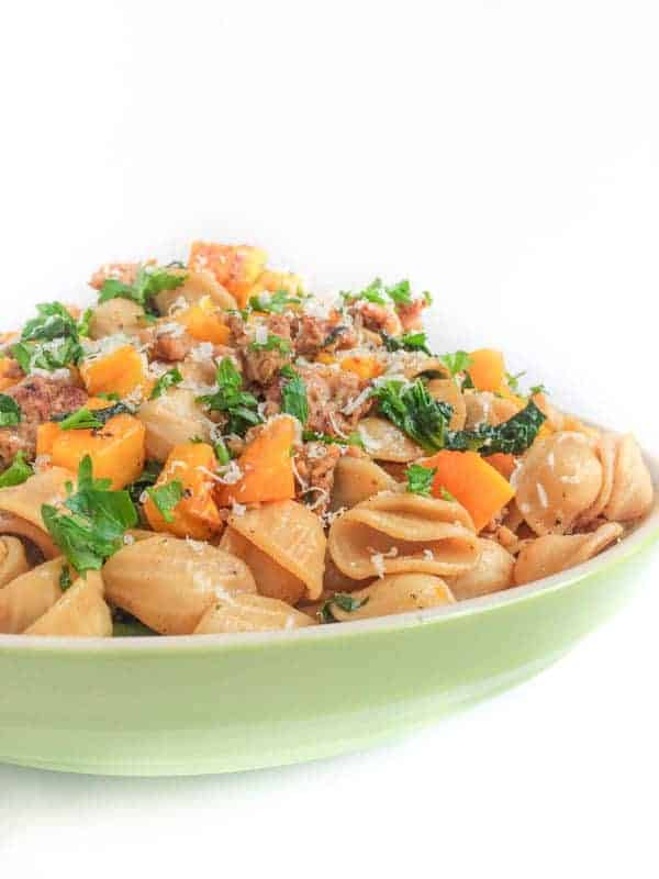 Roasted Butternut Squash, Italian Sausage and Kale Pasta - The Lemon Bowl