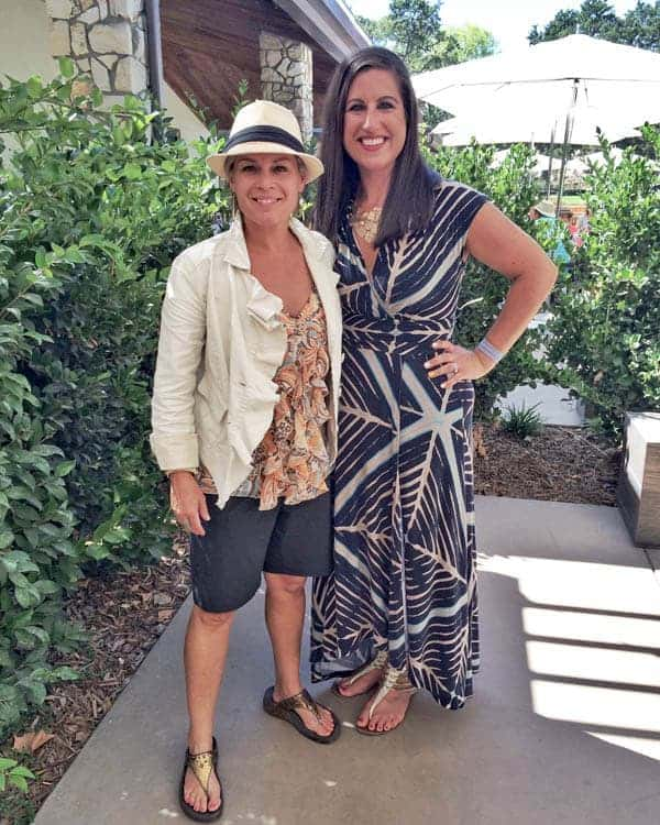 Cat Cora and Liz - The Lemon Bowl