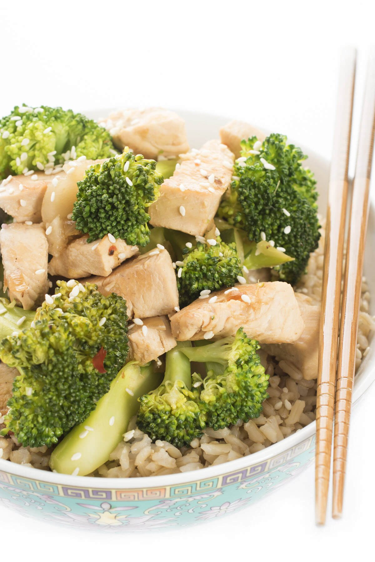Chicken and Broccoli in a bowl