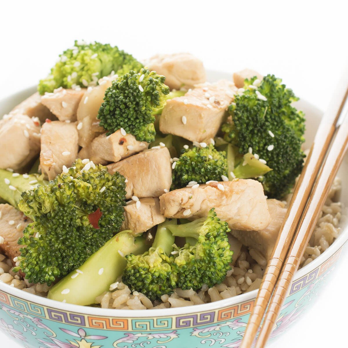 Chicken and Broccoli with Brown Rice