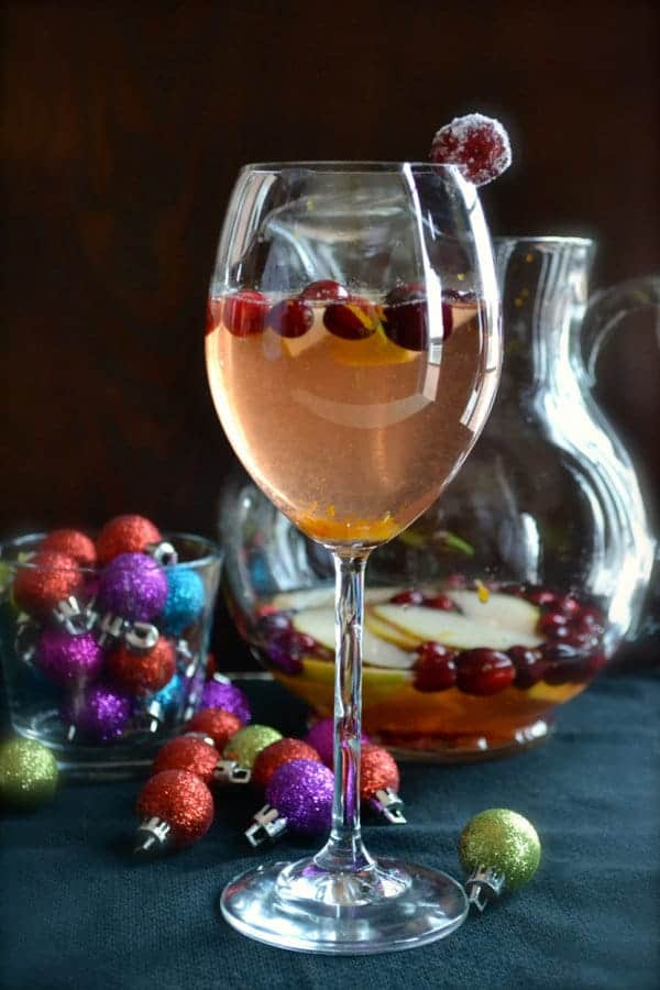 Cranberry Pear Sangria - Taste Love Nourish