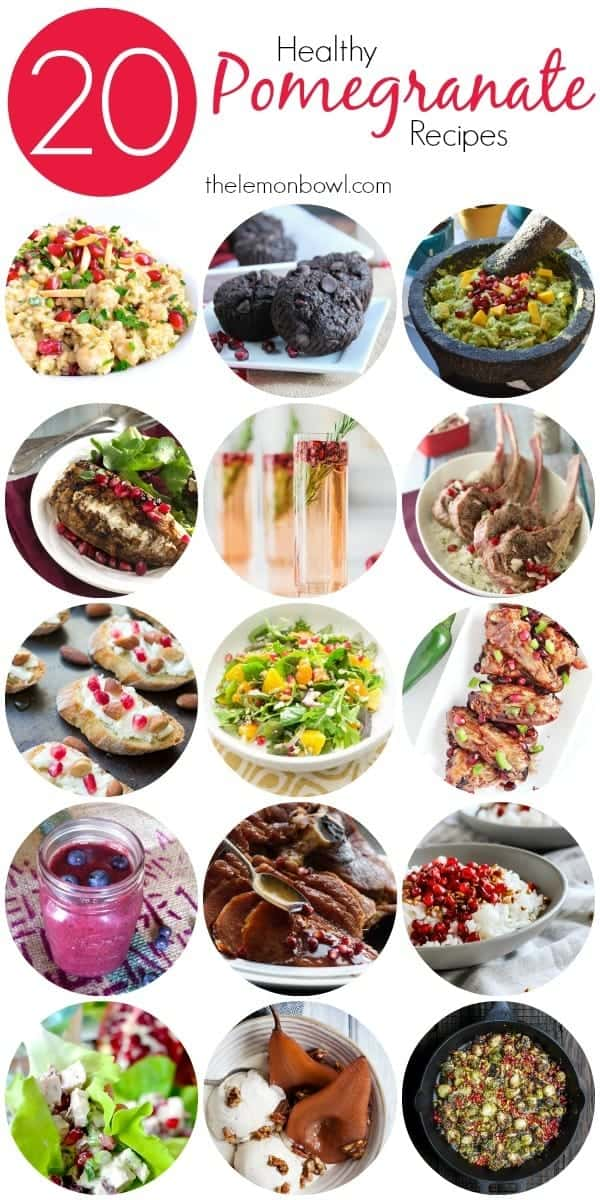 20 Healthy Pomegranate Recipes - easy healthy and delicious ideas for cookng with pomegranate
