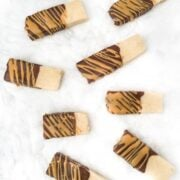 Chocolate Peanut Butter Dipped Short Bread